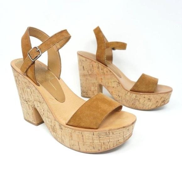 f37b241b271 Dolce Vita Shoes - Dolce Vita Platform Sandals Randi Suede Cork Heels
